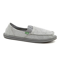 Sanuk Women's Pick Pocket Tee Slip-On Shoes - White Stripes