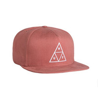 HUF Triple Triangle Snapback In Smoke Pink Size O/S