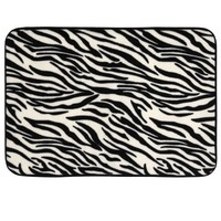 Mohawk Home Luxurious 17-Inch by 24-Inch Memory Foam Bath Rug, Zebra