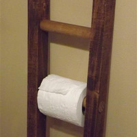 Ladder/ toilet paper holder/ rustic / bathroom decor/ farmhouse