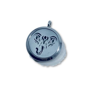 SS Diffuser Necklace- Elephant