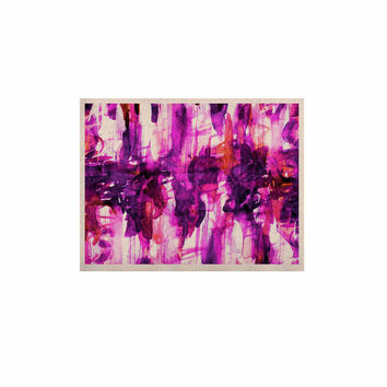 "Ebi Emporium ""White Noise 3"" Purple Magenta KESS Naturals Canvas (Frame not Included)"