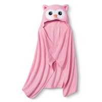Circo® Newborn Girls' Hooded Owl Towel Wrap - Pink