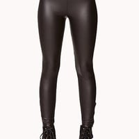 Zippered Coated Leggings