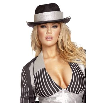 Roma Costume Gh106 Gangster Hat With Silver Trim
