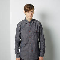 Chambray Check Combo Shirt by Junya Watanabe Man