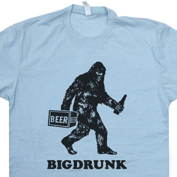 Bigdrunk T Shirt Bigfoot T Shirt Funny Beer T Shirts Sasquatch