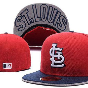 ESB8KY St. Louis Cardinals New Era MLB Authentic Collection 59FIFTY Hat Red-Blue