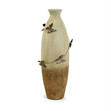 Butterfly Vase - Rustic Earthenware
