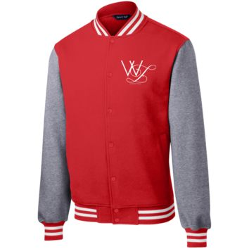 William Louis Fleece Letterman Jacket (WL white Logo)