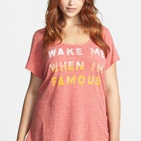 Lucky Brand 'Wake Me When I'm Famous' Tee (Plus Size) | Nordstrom
