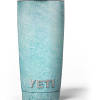 Textured Teal Surface Yeti Rambler Skin Kit