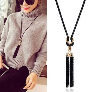 Designer Boutique Vintage Elegant Big Gold Metal Long Tassel Rhinestone Statement Necklace for Women Crystal Pendant