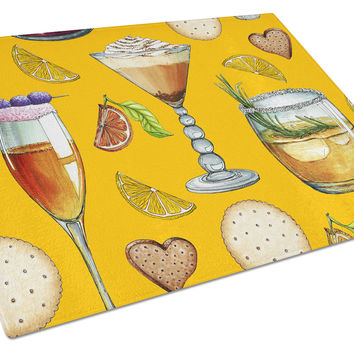 Drinks and Cocktails Gold Glass Cutting Board Large BB5202LCB