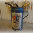antique maytag fuel mixing tin / collectible gas & oil can / vintage advertising / old petroliana
