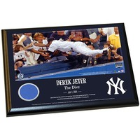 Steiner Sports New York Yankees Derek Jeter Moments The Dive 8'' x 10'' Plaque with Authentic Wall Panel Swatch (Ynk Team)