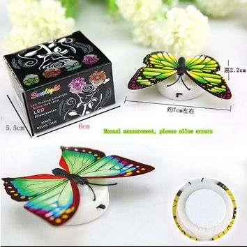 Glow In The Dark toys Colorful Night Light Bedroom Lamp for Children  Decorative Butterfly Light Colorful  Baby Bedside Lamp Toy