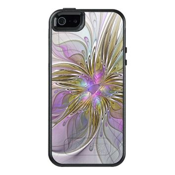 Floral abstract and colorful Fractal Art OtterBox iPhone 5/5s/SE Case