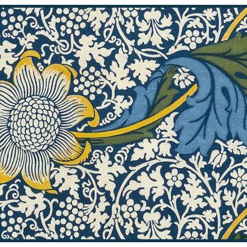 Kennet Design Detail 2 by Arts and Crafts Movement Founder William Morris Counted Cross Stitch or Counted Needlepoint Pattern - Counted Cross Stitch