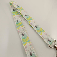 Butterflies Butterfly Lanyard Teacher Lanyard Monarch Butterflies Nurse Lanyard Work Lanyard Insect Lanyard Key Holder Lanyard