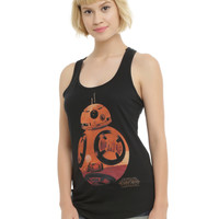 Star Wars: The Force Awakens BB-8 Silhouette Fill Girls Tank Top