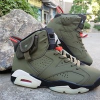 Travis Scott x Air Jordan 6 Medium Olive Men Sneaker - Best Deal Online