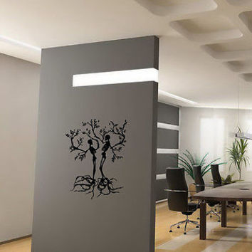 WALL VINYL STICKER DECAL ART MURAL TWO TREES LIKE SKELETONS CUTE DESIGN K211