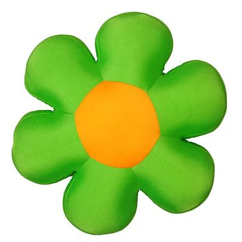Fun Cute All Year Round Super Squishy & Soft Flower Decorative Throw Micro-Bead Cushion Pillow - Green - 18""