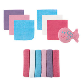 Luvable Friends 12 Washcloths with Bonus Toy | Affordable Infant Clothing