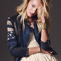 Free People Womens Americana Denim Jacket