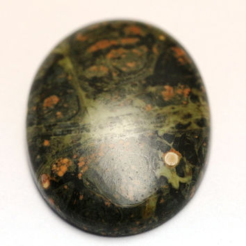 27x37mm AAA+ Quality 100% Natural Green Designer Jasper Cabochon Oval Rarest Loose Gemstone