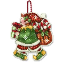 ELF ORNAMENT - Counted Cross Stitch Kit