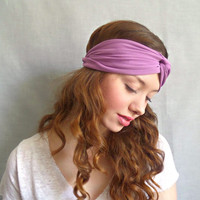 Turban Headband, Jersey Headband, Twist Headwrap, Bohemian Hair Accessories, Lavender Headband