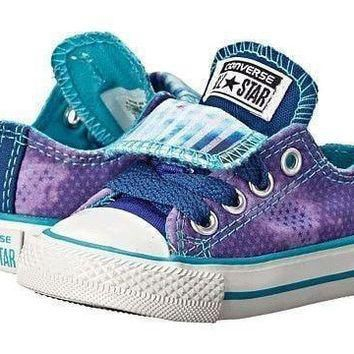 Converse Double Tongue in Periwinkle Shoes