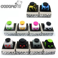 Hand Spinner Fidget Cube With Button - Fidget Vinyl Desk Toy - Ages 6+