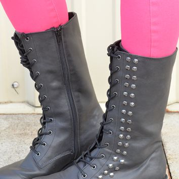 Add Some Street Style Boots: Black