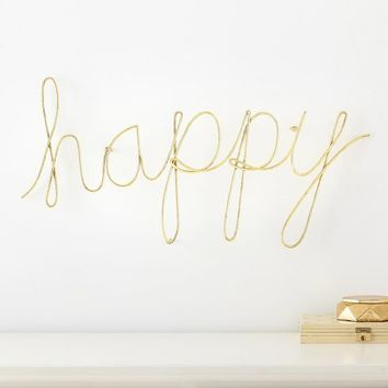 MayBaby Wire Happy Wall Décor