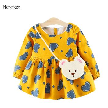 Infant Dresses for Girls Autumn Toddler Girl Clothes 1 Year Brithday Party Dresses 2017 Fashion Casual Princess Baby Dress