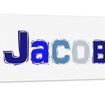 Boy Personalized Name Canvas Wall Art Panoramic