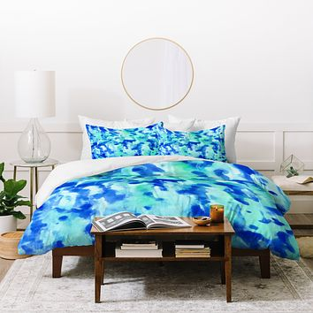 Rosie Brown Blue On Blue Duvet Cover