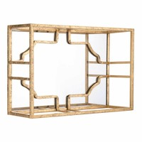 Cube Small Wall Decor Gold