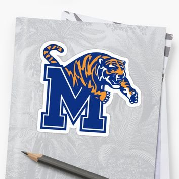 'Memphis Tigers ' Sticker by brookshead