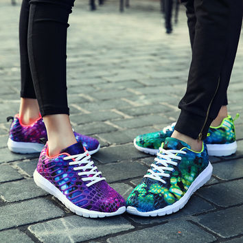 On Sale Hot Deal Hot Sale Comfort Professional Sneakers Autumn Couple Camouflage Print Permeable Jogging Shoes [8115659521]