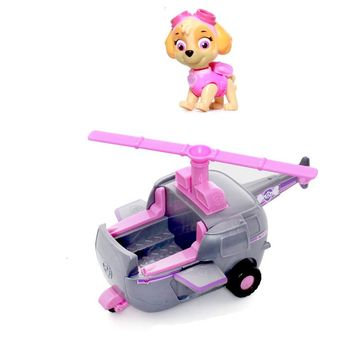 Paw Patrol Skye High Flyin Copter works with Patroller Puppy Dog Patrol Car Action Figure Patrulla Canina Toys for Kids gift
