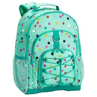 Gear-Up Mint Confetti Multi Dot Backpack