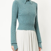 Chanel Vintage Pointed Collar Slim Jumper - Farfetch