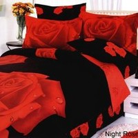 Walmart: Le Vele Night Rose Duvet Cover Bedding Set