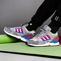 Adidas Consortium Overkill ZX 10000 COVERKILL Fashion New Mesh Women Men Contrast Color Sports Leisure High Quality Shoes