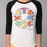 Junk Food Keith Haring Raglan Tee