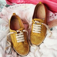 The London Sneaker Espadrille in Mustard